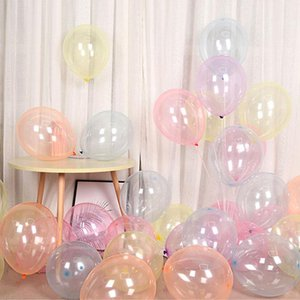 12inch Colorful Crystal Balloon Bobo Birthday Party Transparent Clear Latex Balloons Wedding Decor Helium Balls