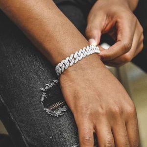 Chokers Высокое Качество Женщины Мужчины Хипхоп Рок Miami Cuban Link Change Bractele Braced Out Bling 5a Кубический Циркония CZ Классические Ювелирные Изделия Drop Shop