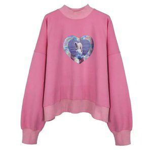 w11d sweater thermochromic love polar bear Pullover colorful 3M luminous heart tie dye printing