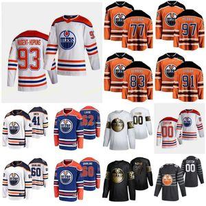 Edmonton Oilmers 2021 Ters Retro Jersey Archibald Josh Barrie Tyson Ayı Ethan Benson Tyler Bouchard Evan Chiasson Alex Özel Dikişli