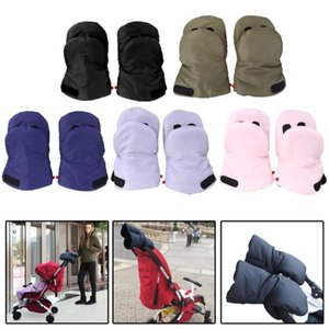 2pcs Winter Pram Hand Muff Outdoor Baby Carriage Pushchair Warm Fleece Hand Cover Gloves Stroller Accessories