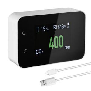 Gaz Analizörleri Hava Kalitesi Monitör Dedektörü Çok Fonksiyonlu CO2 Metre Karbon Dioksit Değeri Elektrik Miktarı Sıcaklık Nem Ekranı
