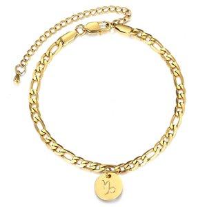 Constellations Anhänger Fuß Anklet Zodiac 8inch3inch 12 For Fashion Fußkettchen Frauen Charm Figaro Chain Link Extender DA42 yxlGmK bde_jewelry