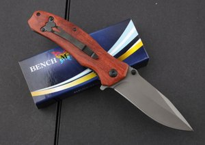 wholesaler Benchmade BrowningF69 Flipper Titanium Pocket Folding Knife 440C 57HRC Tactical Camping gear Hunting Survival Knives EDC tool