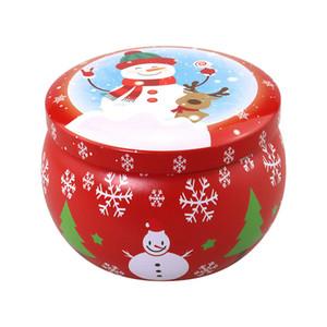 الروائح المعطرة عيد الميلاد شمعة المعلبة صندوق الشاي شمعة شمعة جرة هدية عيد الميلاد تخزين مربع صفيح صندوق GWC2959