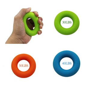 30 40 50LBS Strength Finger Hand Grip Muscle Power Training Squeeze Toy Exerciser Silicone Palm Circle Fitness Stress Relief Toy Y0110