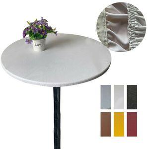 Aménagée Table couverture en tissu élastique souple en polyester ronde Bordée Nappe 120cm Dia