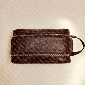 King size saco de higiene 25 m47528 Designer moda homens mulheres cosméticos vaso sanitário bolsa de beleza de luxo case cunhette acessoires saco kit n47527