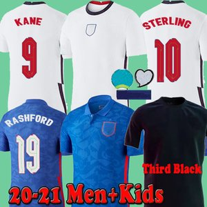 England Men + Kids 2020 Euro england Soccer Jerseys Third black Concept home DELE RASHFORD SANCHO STERLING KANE 2021 Football Shirts 20 21