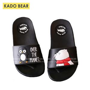 Kids Cartoon Bear Indoor Slippers Toddler Boys Girls Family Summer Home Flip Flop Baby Bedroom Shoes Children Beach Wear Sandals Y200404