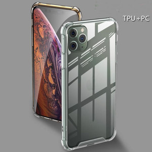 TOP Shockproof Transparent Phone Case for iPhone 11 Pro Max Soft Gel TPU Case Clear Shell Cover