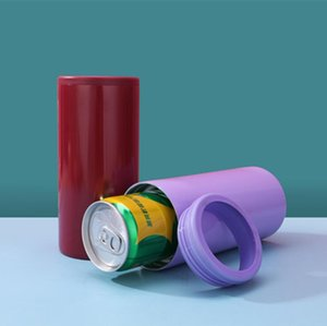 12 once (alto cola può) Tazze Tumbler tazze in acciaio inox coibentato tazza boccali Cola può piana di trasporto tazza fondo del mare libero veloce OWC2987