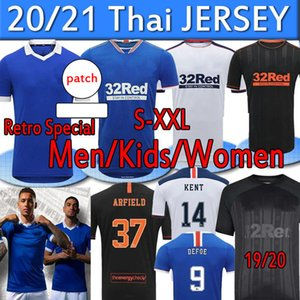 2020 2021 Glasgow Rangers FC Soccer Jerseys Retro Sonderversion Fussball Shirts Defoe Morelos Kent Aribo Erwachsene Kit Männer Frauen Kinder Uniform