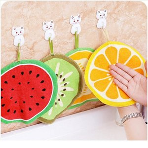 3pcs Home Kitchen Fruit Cute Hanging Type Strong Hand Towel Children's Water Absorption Handkerchief Kitche bbypiS