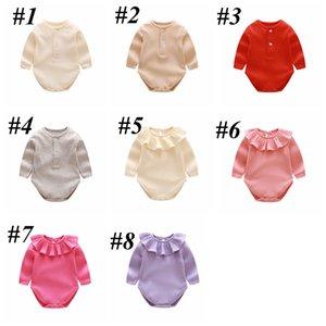 NOUVEAU-NARE BRANDÉS ROMPERS 9 DESIGN BABY JUNKSUIT TRIANGE Automne Spring Long Manchon Coton Épais Garçon Girls Outfit 3-24m GWA3234