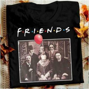 Horror Freunde Pennywise Michael Myers Jason Voorhees Halloween-Mann-T-Shirt aus Baumwolle passendes T-Shirt
