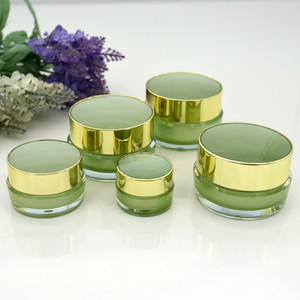 New Empty Acrylic Cream Jar 5g 10g Cosmetic Make Up Face Snail Eyes Serum Mask Nail Polish Containers Wholesale 100pcs lot