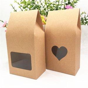 24pcs 8x5x16cm Multiple Styles Paper Boîte avec PVC Transparent Square Fenêtre Lotissement Cœur parfumé Candy Candy Cadeau Box1