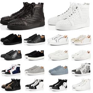 Новая красных днища Женской обуви высоких кроссовок Low Cut Тройного черные белые серые кожаные блесток замши плоской случайные мужчины обувь мода