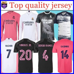 Real Madrid Jerseys 2020 PERIGO DE RAMOS MODRIC F.MENDY camisa de futebol uniformes kit 20 21 homens adultos + crianças kit meias esportivas de futebol camisa