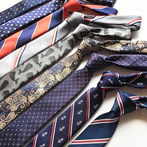 SHENNAIWEI 6 cm çizgili erkek hediye kravat bağları kravat