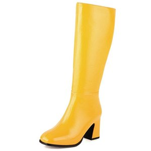 RIBETRINI Brand New Big Size 45 Fashion Winter Shoes Boots Women Hoof High Heels Great Quality Riding Boots
