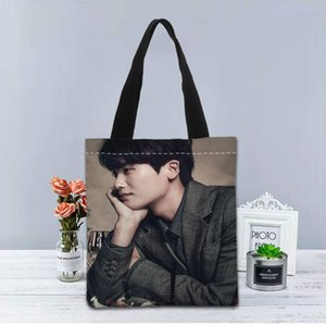 Borsa personalizzata Casual Hyung Tote Travel Nuove sacchetti Sik Stampato Shopping Park Canvas Donne Shoulder Shoulder Borsa utile TVuet