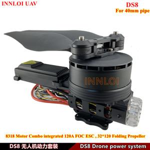 INNLOI DIY DS8 power system COMBO XRotor 8318 KV120 motor 120A ESC 32*120 folding propeller for 16L   22L Agricultural Spray Drone