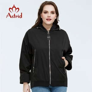 Astrid New Spring Fashion Fashion Short Women Women Abrigo Alta Calidad Mujer Outwear Casual Hooded Trench Coat am-9317 201031