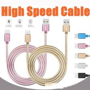 Cgjxs 2020 Boîtier métallique Tressé Micro Usb Câble 2a Durable USB Type de charge haute vitesse C Câble Avec 10000 Bend Lifespan pour Android intelligente