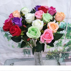 60CM Artificial Flower Simulation Rose Wedding Decoration Flowers Silk Rose Bouquet Single Stem Floral Home Party Real Touch Fake Flowers