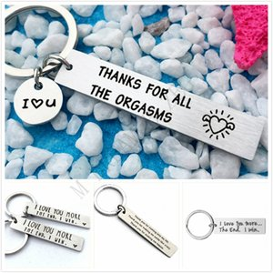 Valentines Gift Keychain Couples Love Lettering Key rings Silver Pendant Key Chain Alloy Car Key Rings Valentines Day Gift