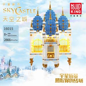 MOC Dream Sky Castle LED الطوب مدينة شارع نموذج كيت اللبنات لعب للأطفال متوافق مع lepining الخالق خبير 1008