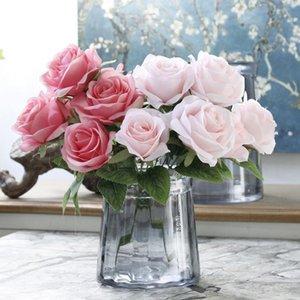 Artificial Rose Silk Flower Bouquet For Wedding Home Decoration 7 Heads Rose Fake Flower Bouquets DIY Table Garden Decor