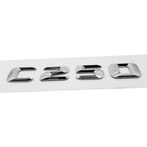 3D ABS ABS укладчик значок наклейка C250 задняя эмблема для Mercedes Benz C Class 190e W201 W202 W203 W204 хвосты эмблемы