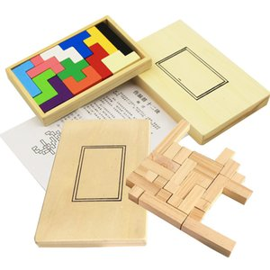 Building block plywood Square plate Children puzzle toy Brain-burning game Intelligence Educational Toys Creative Gift For Kids Children