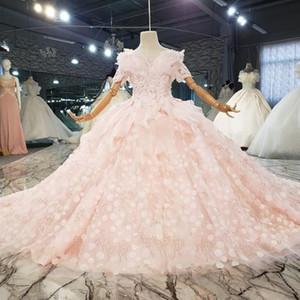 Custom Made V Neck Flower Girl Dresses For Wedding 2021 Custom Made 3d Floral Appliques Sleeveless Girls Communion Dress