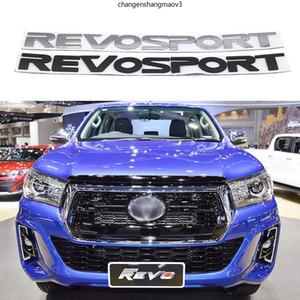Para Toyota Revo Sport Front Hood Badge Logo Emblem Revosport Name Plack Pegatinas de coche