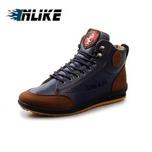 Adam Dantel-up Ayakkabı için inlike YENİ Moda Yüksek Top Erkekler Skate Board Ayakkabı Kamuflaj Erkekler'S Bilek Boots Ayakkabı
