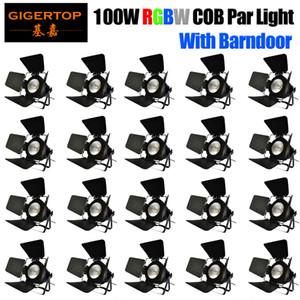 100W LED COB RGBW 4в1 Par свет с DMX 512 Полноцветный COB PAR Wash свет быстрая перевозка груза для рождения Музыка партии танцзал