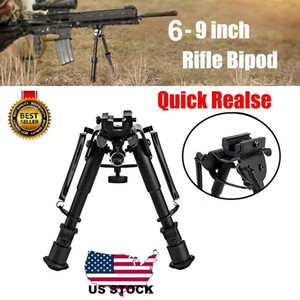 6-9 Inches Bipod Tactical Adjustable stand balance Rifle Bipod Quicke Releas Adapter for Hunting and Shooting