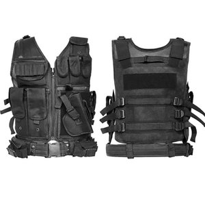 Army Tactical Vest Outdoor Camouflage Combat Training Hunting Vest Paintball Molle Holster Gear