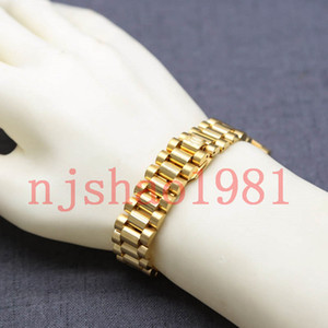 Di lusso dei braccialetti di modo per i monili del braccialetto polsino del Mens delle donne di stile della vigilanza inossidabile di alta qualità Mens