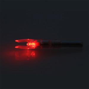 Caça Id6.2mm LED iluminado arco e flecha de arco de arco nock LED incandescendo seta nocks crossbow composto recorrido curva