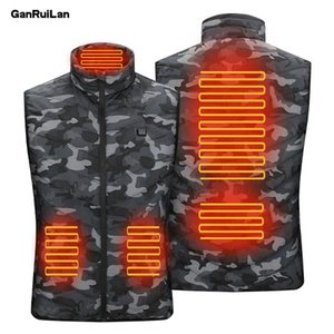 2020 New Style 9 5 Areas Heated jacket Heating Warm Vest Usb Smart Washable Size Adjustable Usb Charging Heated Warmer Clothes