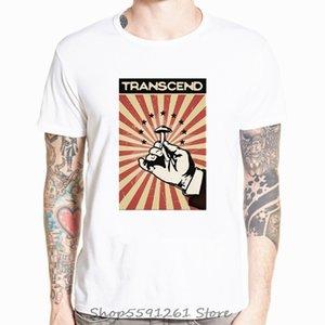 Transcend divertente bianco Vintage manifesto Stampa Mano Maschio Mushroom T del fumetto casuale all'ingrosso supera i T Felpa con cappuccio degli uomini della maglietta