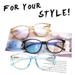 Giausa trasparente occhiali rotondi cornice trasparente da donna spettacolo myopia occhiali da uomo occhiali telaio per occhiali nerd cornici ottiche clear1