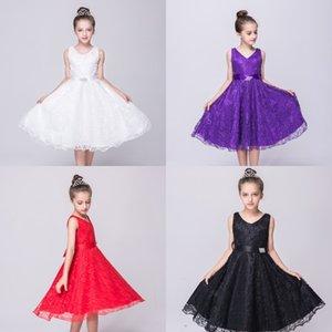 jCsyf muchacha dulce vestido de la celebración de noche del cordón de la princesa fiesta de celebración vestido de los niños vestido de regalo de aniversario de la tarde Gvxsw