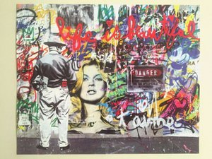 """MR. BRAINWASH """" LIFE IS BEAUTIFUL """" Home Decor Handpainted & HD Print Oil Painting On Canvas Wall Art Canvas Pictures 201026"""