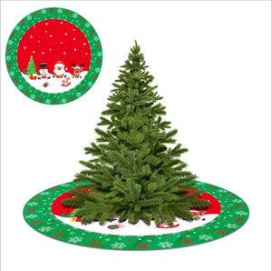 Árbol de navidad falda sobreviviente patrón de familia almohadilla de árbol de santa cláusula del árbol de navidad de la decoración personalizada de la decoración del mar, envío marítimo HWB2472
